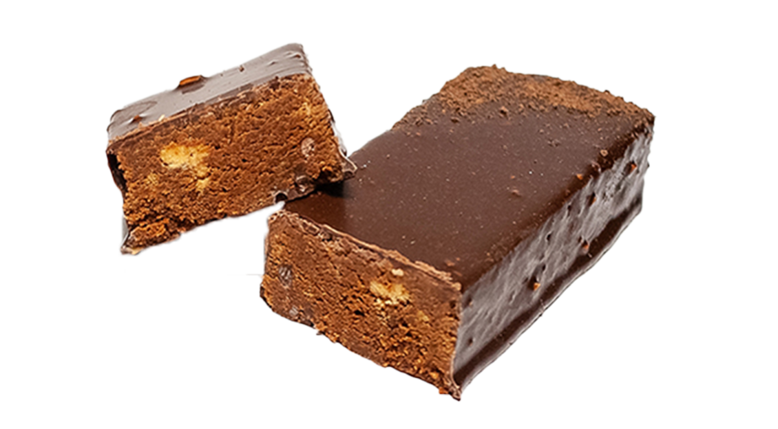 Chocolate bar with drops